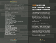 2017 California Food and Agriculture Legislator Scorecard